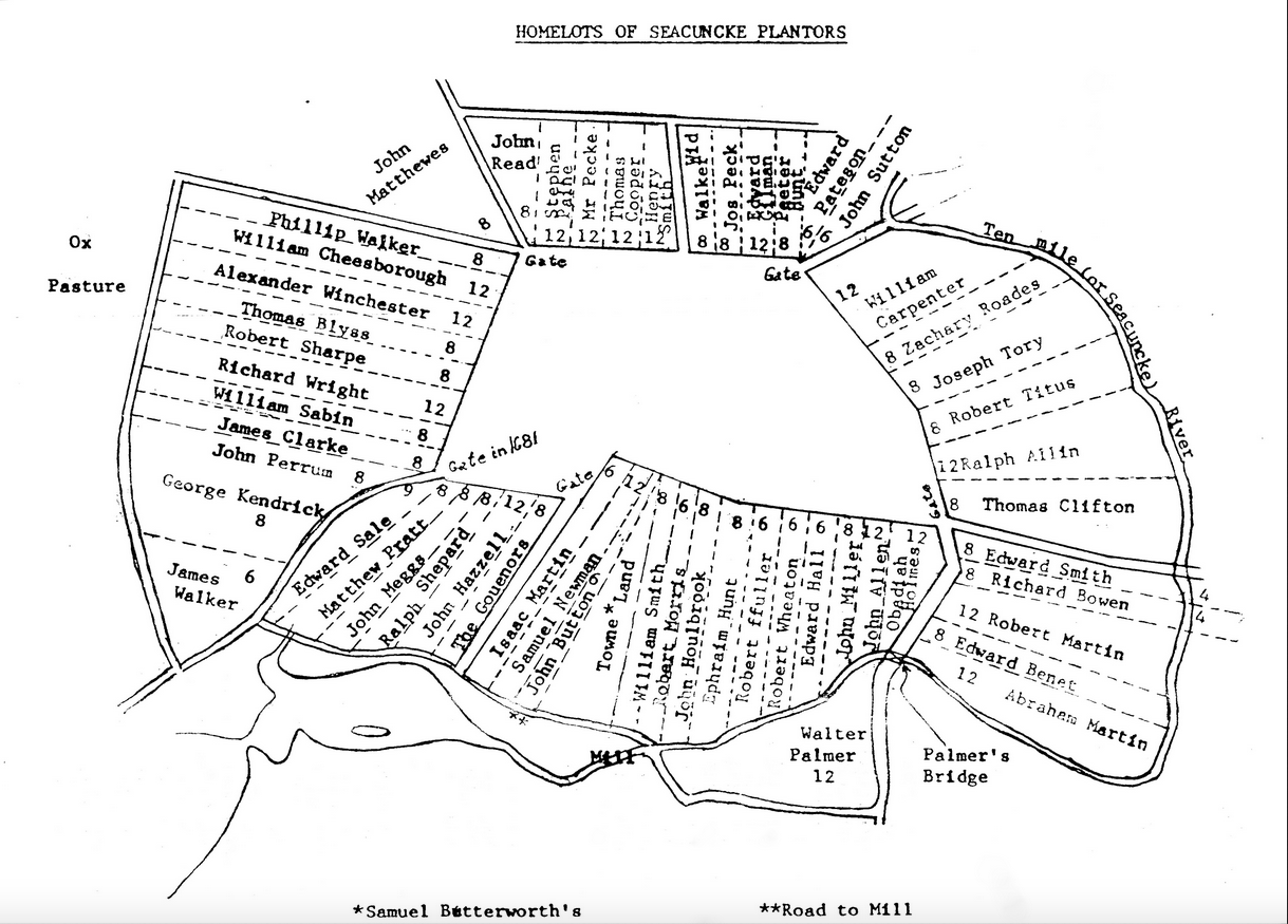 Homelots of Rehoboth (Seaconke) Plantaion